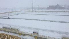 Обилният снеговалеж в цялата страна пренареди програмата на Първа лига