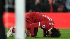 Салах е с комоцио след мача срещу Нюкасъл и лекарите са му забранили да играе утре