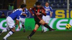 Два красиви гола на Алешандре Пато донесоха успех на Милан над Сампдория в четвъртфиналите на турнира за Купата на Италия