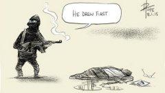 """""""Той започна пръв"""" - австралийският карикатурист Дейвид Поуп."""