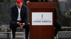 Доналд обяви по време на кампанията си, че ще бъде най-добрият президент, създаван от Бога. Бог изпрати опровержение: Хеей, не ме вкарвай в това, пич!