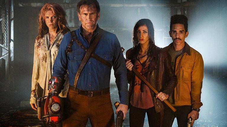 """Ash vs. Evil Dead (Starz)  Продължаваме с адаптациите, които се опитаха да прехвърлят филм на малкия екран. Почитателите на хорър поредицата на Сам Рейми """"Злите мъртви"""" се зарадваха да видят как култовият актьор Брус Кембъл бори злите сили и в телевизионен формат. И тук обаче ниските рейтинги станаха причина за прекратяване на сериала след третия му сезон, а Кембъл заяви, че повече няма да играе ролята на Аш."""