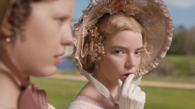 """""""Ема"""" (Emma) Премиера: 14 февруари  Отново книжна адаптация, този път по роман на Джейн Остин. Ема Уудхаус (Аня Тейлър-Джой) е богата, красива и умна. Решена е никога да не се омъжва, но същевременно упорито вярва, че е талантлива сватовница. Дори когато избира на приятелките си не мъжете, които те искат, а тези, които самата тя сметне за подходящи... История за търсенето на любовта и борбата за щастлив край - точно като за 14 февруари."""