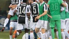 Играчите на Ювентус ликуваха много след емоционалния мач, който ги доближи до поредна титла на Италия