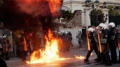 Протестите в Атина се завърнаха