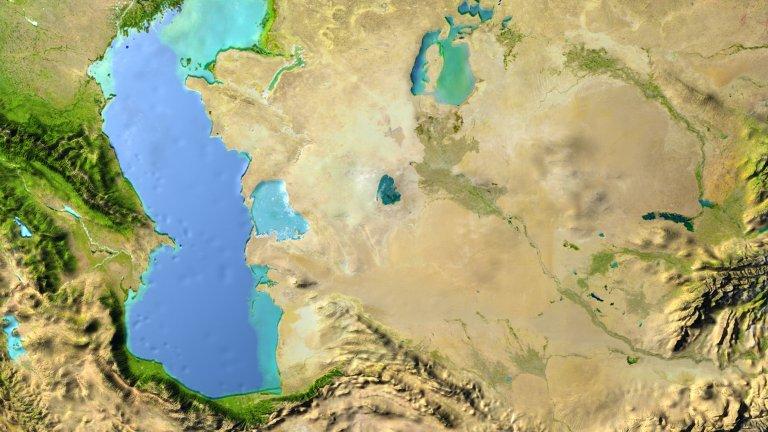 Каспийско и Аралско море, което вече представлява три езера