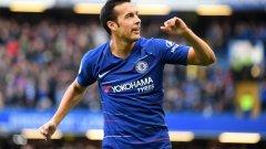 Челси поведе с гола на Педро още в началото, но мачът не беше лесен за играчите на Маурицио Сари