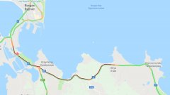 Катастрофа запуши пътя между Бургас и Созопол