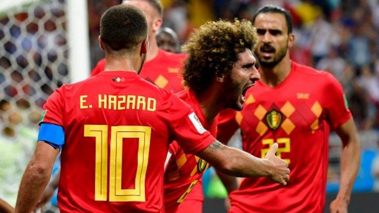 Два от головете за обрата бяха вкарани от резерви - Маруан Фелайни и Насер Шадли, което също е рекорд на световни футболни финали