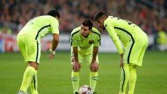 Ако ударното три на Барса се справи с Атлетико, каталунците ще си осигурят титлата в Примера още в неделя