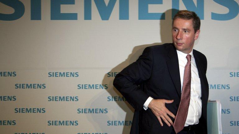 """Клаус Клайнфелд, изпълнителен директор на """"Siemens"""" по време на скандала"""