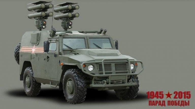 """Самоходен противотанков ракетен комплекс """"Корнет-Д1""""  Предназначен за поразяване на танкове и други бронирани цели, в това число оборудвани със съвременни средства за динамична защита"""
