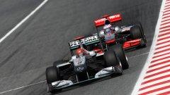 В Барселона Михаел Шумахер спечели много важна битка срещу Дженсън Бътън