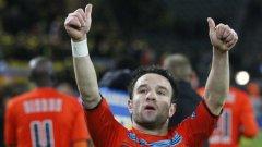 Валбуена бе най-радостният човек от Олимпик, след като вкара решителния гол срещу Борусия