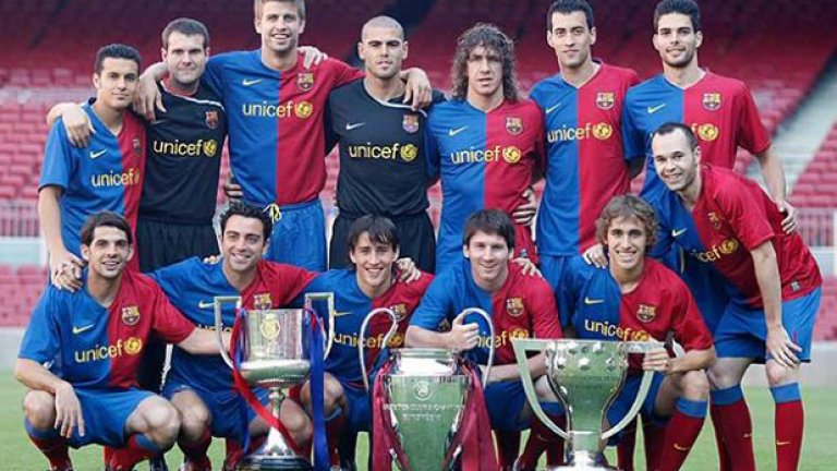 Ето ги героите от този каталунски тим с трите най-важни купи: Шампиони на Испания и Европа, както и носители на Купата на Краля.