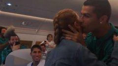 Дъщерята на Мичел Салгадо пя за Реал и получи целувка от Роналдо (видео)