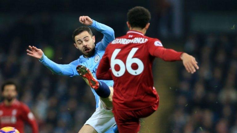 В Манчестър Сити с тактическите нарушения все по-често се нагърбва Бернардо Силва - защото той не е толкова рисков футболист и не е твърде застрашен при получаване на жълт картон
