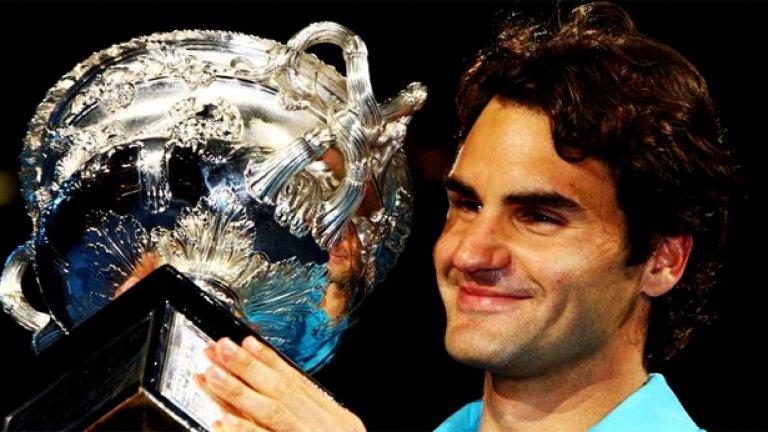 Успехът на Федерер в Мелбърн беше четвърти при петото му участие на финал