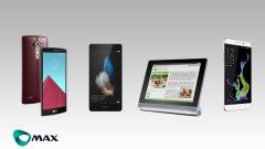 Новите попълнения в магазините на Макс са смартфоните с два слота за СИМ карти LG G4, Huawei P8 Lite Dual и Coolpad Modena, както и таблетът Lenovo Yoga Tab 10.