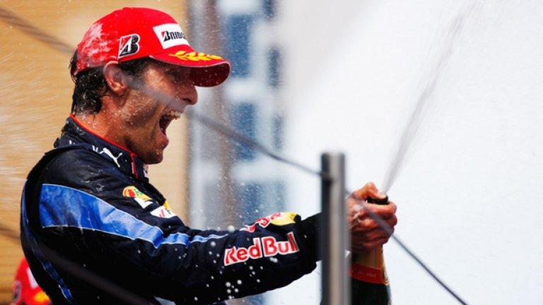 Перфектната стратегия на Марк Уебър, изпълнена отлично от пилота в Испания, му донесе победата
