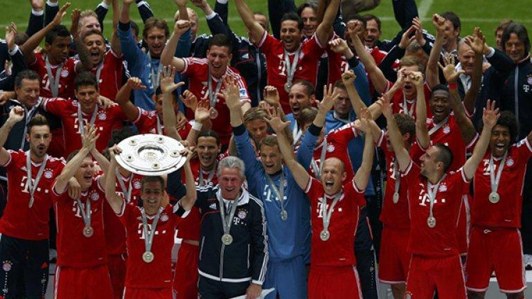 2013 г. Байерн е шампион на Германия на 6 април, което му остави месец за подготовка и концентрация върху останалите две купи от требъла. Червената машина не изпусна нито един трофей в паметен сезон.