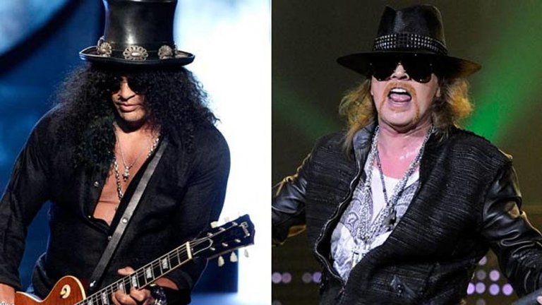 Аксел Роуз и Слаш  Класическият за рока сблъсък между китарист и вокалист доби болезнени размери в случая на неустоимите хулигани от Guns N' Roses. Според Слаш, той сам е напуснал групата през 1996-а, но Аксел твърди, че лично го уволнил, защото китаристът изгубил магията си. Истината е, че конфликтите между тях не са били един и два, а тежките им характери са способни да превърнат всяко неразбирателство в скандал. В средата на 90-те вижданията им започнали да се различават твърде много и в чисто музикален план.   Но бившият мениджър на Guns твърди, че началото на враждата било решението на Слаш да направи песен с Майкъл Джексън. Аксел бил сексуално тормозен от баща си на много ранна възраст и вярвал, че обвиненията в педофилия срещу Джексън са истина. Затова и не можел да приеме, че китаристът на групата му ще прави дует с такъв човек. Дълги години изглеждаше невъзможно Роуз да се помири със Слаш, но през 2016-а китаристът отново стана част от Guns N' Roses.