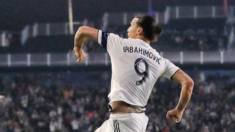 Вместо стандартното Ibrahimovic, на фланелката на звездата бе изписано Irbahimovic. Грешката не смути големия голмайстор.