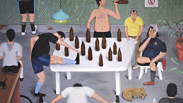 Агуеро е с шкембе, а в съблекалнята се пуши и пие