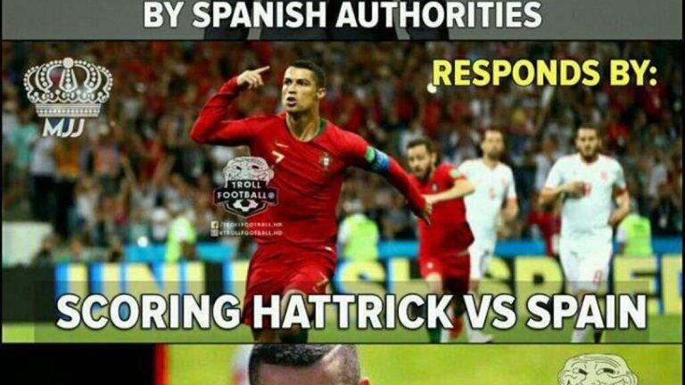 Получава 2-годишна присъда от испанските власти за укриване на данъци и отговаря още същия ден с хеттрик срещу Испания...