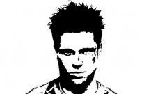 Аватарът с лика на Тайлър Дърдън, под който Дан Иванджийски (и вероятно и други хора) публикуват в популярния финансов сайт Zero Hedge.