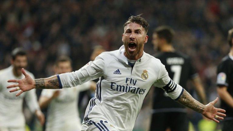 Серхио Рамос - Реал Мадрид, 2016, 2017  Рамос можеше да стане единственият капитан, който е взимал требъла три пъти, но през 2018-а Атлетико Мадрид успя да вземе Суперкупата на Европа от Реал със зрелищна победа с 4:2 след продължения
