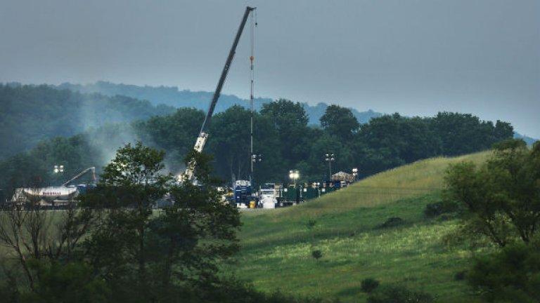 Проучванията и добивът на шистов газ в южната част на Румъния обедини протестиращите