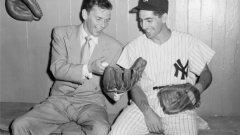 Синатра и Фил Ризуто от Ню Йорк Янкис през 1949 г.