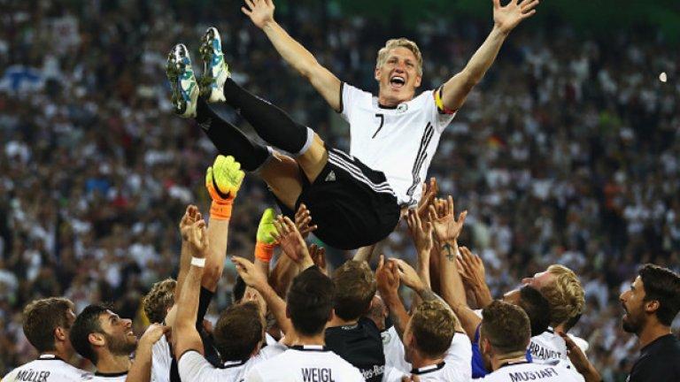 С Германия футболистът изживя славни мигове...
