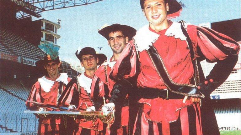 Имало едно време във Валенсия – (от ляво надясно) Белодеич, Миятович, Пици и нашият Любо Пенев.