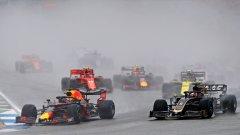 Голямата драма в Гран при на Германия завърши с триумф на Верстапен и провал за Мерцедес