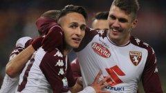 Симоне Едера вкара втория гол за Торино, който се оказа и победен