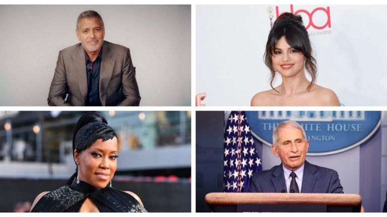 Това са Джордж Клуни, Селена Гомес, Реджина Кинг и д-р Антъни Фаучи