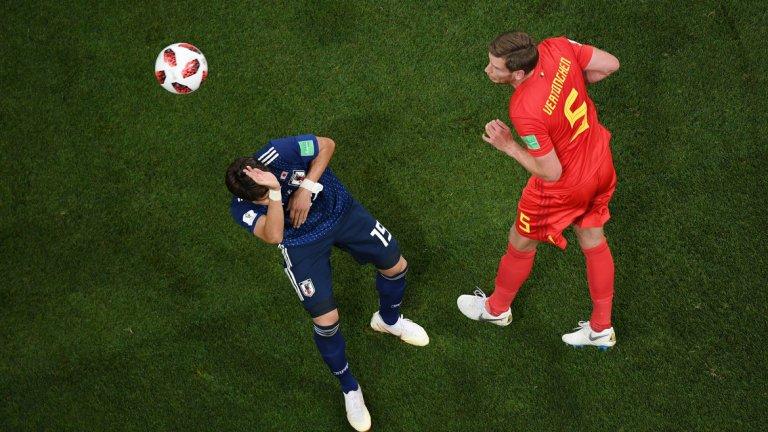 В допълнение, Белгия постави и още един рекорд. При първия гол на Вертонген топката прелетя 18,6 метра, което е най-голямото разстояние след голов удар с глава от поне 1966 година, откакто се води подобна статистика.