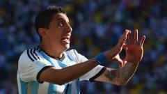 Ди Мария игра силно за Аржентина на световното, но се контузи.