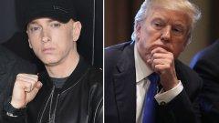 """След като в своя песен Еминем рапира за убийствата на Доналд и Иванка Тръмп, """"Сикрет сървис"""" започват проверка по случая и дори се срещат с рапъра, за да го интервюират."""