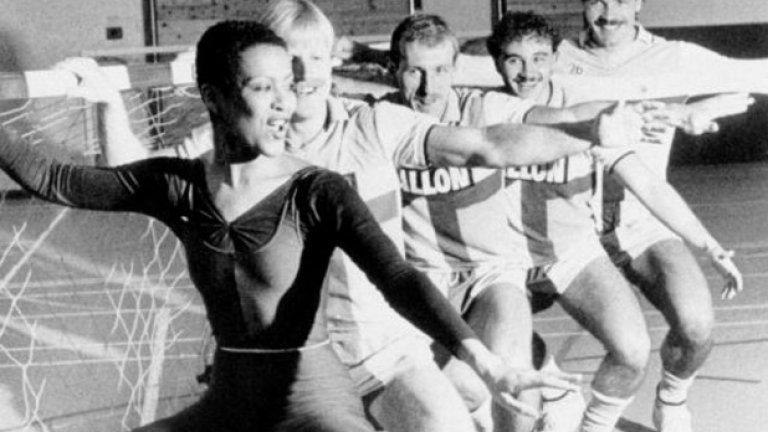Балетът бе част от тренировките в Ковънтри.