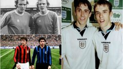 Гари и Фил Невил са рекордьори в тази класация с 3 появявания на европейски футболни финали...