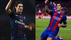 Кавани води Суарес и по голове в Шампионската лига. През този сезон е с 6/6 в най-престижния европейски клубен турнир, докато нападателят на Барселона има само два гола в пет мача.