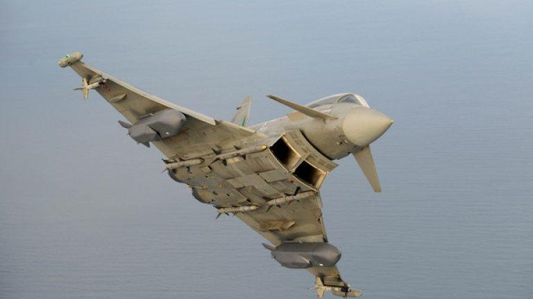 """Новопроизведените Eurofighter са също прекрасни многоцелеви изтребители на още """"по-прекрасна"""" цена. През 2012 г. по време на учение в Аляска германски Eurofighter успешно ловяха супермодерните американски изтребители F-22 Raptor. Германия, една от четирите страни, участващи в консорциума за производството на машината, активно присъстваше в България до към края на 2012 г., когато най-накрая се увери, че новите Eurofighter са непосилни в ценово отношение и прехвърли цялата маркетингова кампания на Италия с нейните употребявани машини."""