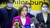 След като новоизбраният президент Мая Санду разпусна парламента, сега нейната партия взима 48% от вота