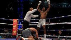 Джошуа спечели титлата на Международната боксова федерация (IBF), на Световната боксова асоциация (WBA) и на Международната боксова организация (IBО).
