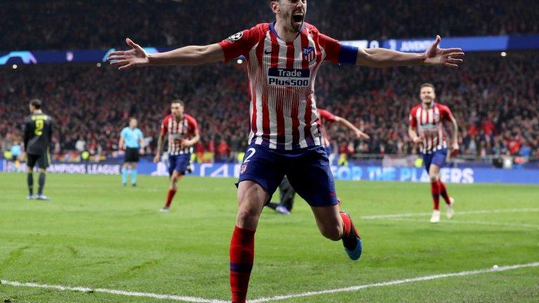 """Капитанът на Атлетико Диего Годин и партньорът му в отбрана Хосе Хоменес спряха Роналдо, Дибала и Манджукич, а към края даже вкараха головете, с които """"дюшекчиите"""" победиха"""