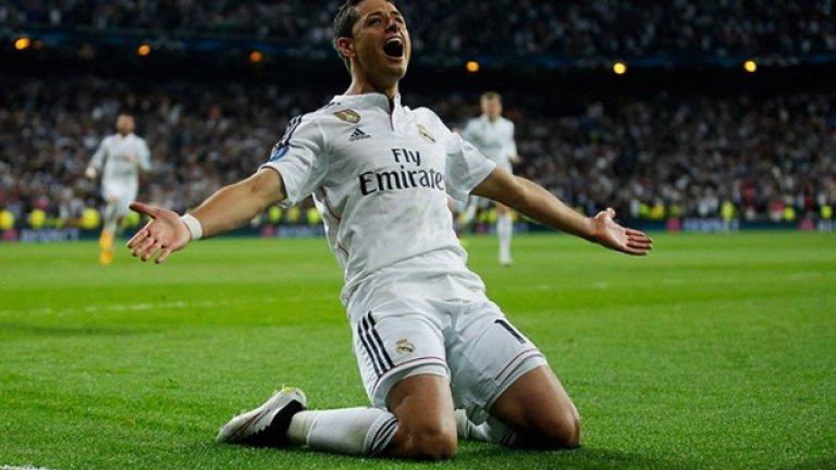 """10 Хавиер Ернандес Чичарите отбеляза изключително важни голове за Реал (Мадрид) в последния месец и се зашумя около него. Ще го задържат ли """"кралете"""" след края на периода му под наем? Ще го върнат ли на Юнайтед? Ще го ползва ли Ван Гаал или ще иска да го продаде? Очакваме отговорите на тези въпроси."""