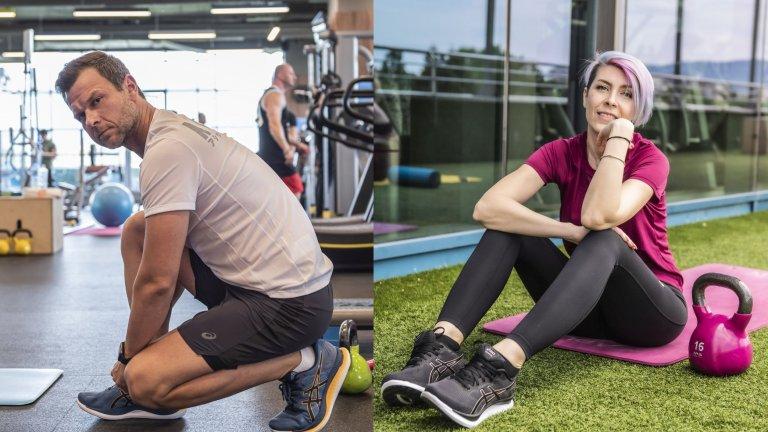 """Актьорът Ненчо Балабанов и блогърката Адриана Ангелова-Адри тренират """"като за световно"""" в кампанията на Webcafe.bg"""